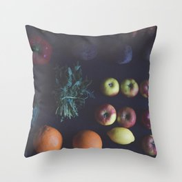 Organic fruits and vegetable Throw Pillow