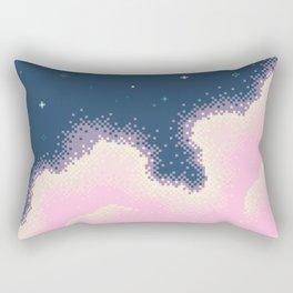 Pixel Cotton Candy Galaxy Rectangular Pillow