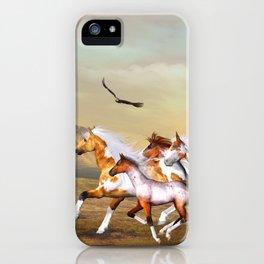 Wild Horses Herd iPhone Case