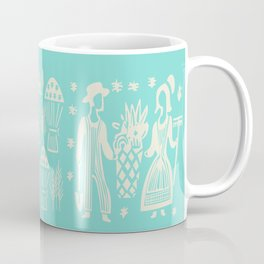 Turquoise Butterprint Cinderella Stack Coffee Mug