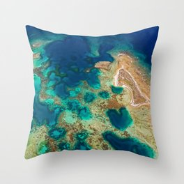 Colours of the Reef Throw Pillow