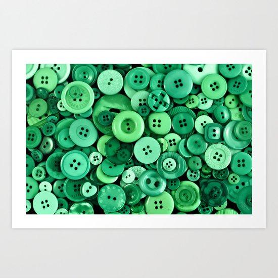 Button Green Art Print