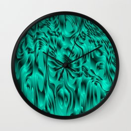 Blurry interweaving of light blue spots from the bright flowing lava and colored symmetrical blots. Wall Clock