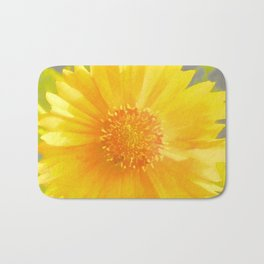 Yellow Wildflower - Coreopsis Bath Mat