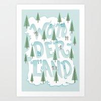 wonderland Art Prints featuring Wonderland by Nick Volkert