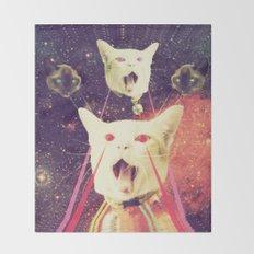 galactic Cats Saga 4 Throw Blanket