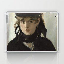 Edouard Manet - Young woman in a black hat Laptop & iPad Skin