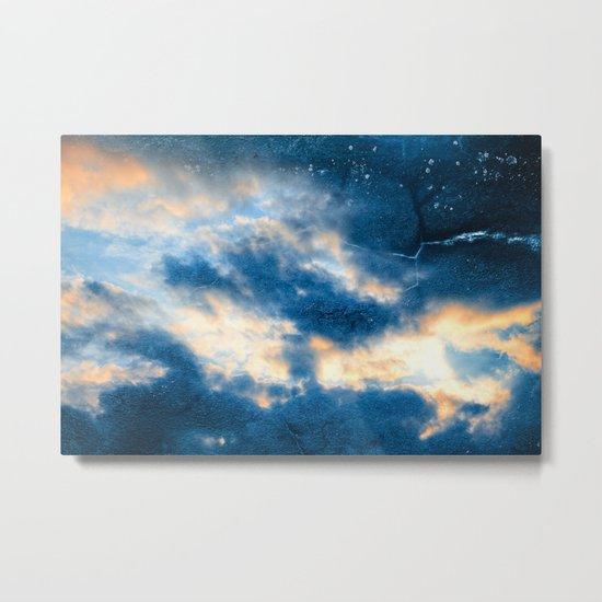 Celestial Grunge Clouds Metal Print