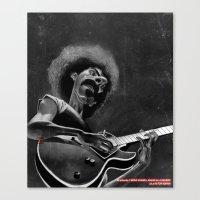 zappa Canvas Prints featuring Frank Zappa by Katon Aqhari