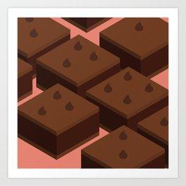 Chocolate Chip Brownies Art Print
