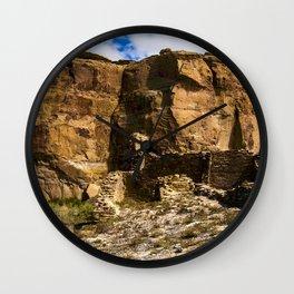 Chaco Canyon New Mexico Archeological Pueblo Site Wall Clock