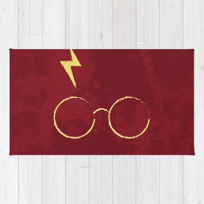 scar and glasses rug by albertjunior society6
