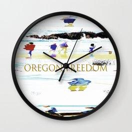 Oregon Freedom Wall Clock