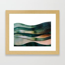 Waving along Framed Art Print