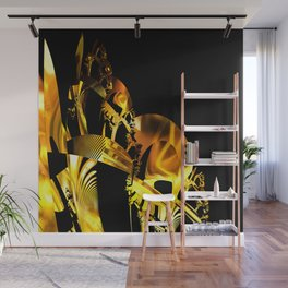 Abstract futuristic instrument Wall Mural