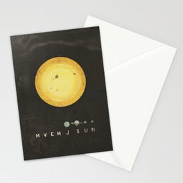 Planetary Arrangement Stationery Cards