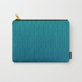 Wave pattern in teal Carry-All Pouch