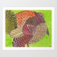 turkey Art Prints featuring Turkey by Adrienne S. Price