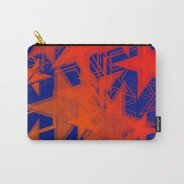 Dark blue metallic background in red stars. Carry-All Pouch