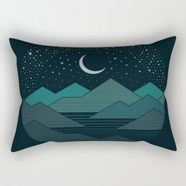 Between The Mountains And The Stars Rectangular Pillow