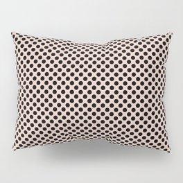 Pale Dogwood and Black Polka Dots Pillow Sham