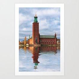 The City Hall, Stockholm Art Print