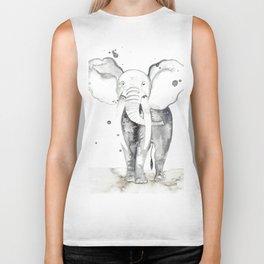 aquarela Elefante Biker Tank