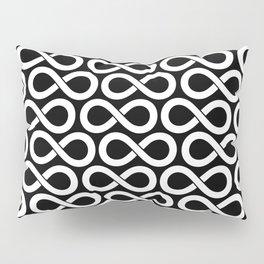 Black and White Infinity Symbols Pattern Pillow Sham