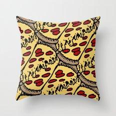 pattern pizza Throw Pillow