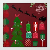 xmas Canvas Prints featuring Xmas by JuniqueStudio
