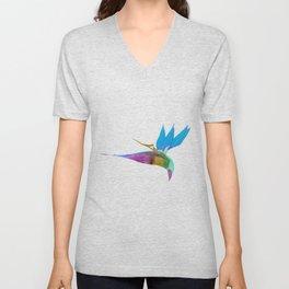 Birds of Paradise - Blue Unisex V-Neck