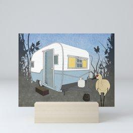 Travel Trailer Sandhill Crane Mini Art Print