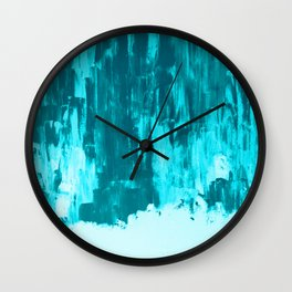 Bright Blue Snow Nights with Icicles Wall Clock