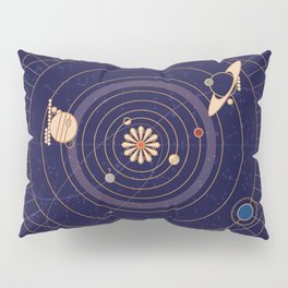 Art Deco Star Chart Pillow Sham
