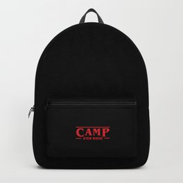 Strange Camp Know Where Backpack