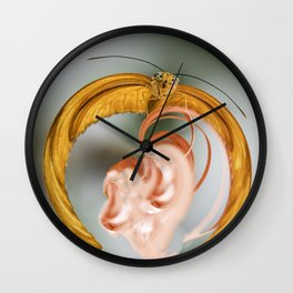 Butterfly in Charge Wall Clock