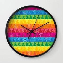 Rainbow Triangles Wall Clock