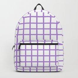 Grid (Lavender & White Pattern) Backpack