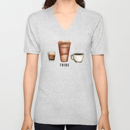 Coffee is My Tribe Unisex V-Neck