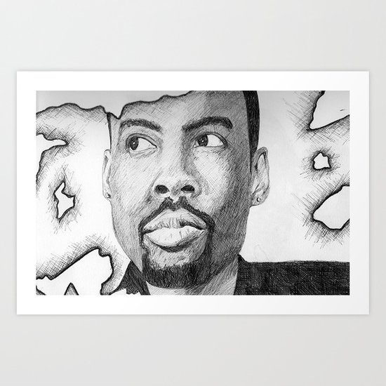 Chris Rock  Art Print