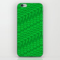video game iPhone & iPod Skins featuring Video Game Controllers - Green by C.Rhodes Design