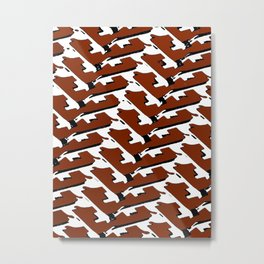 Brick Layer Metal Print