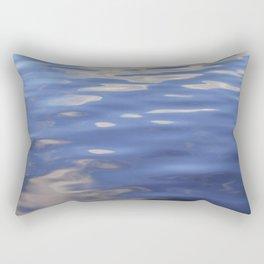 An Abstract Shot of Calm Waves Reflecting A Summer Sky Rectangular Pillow