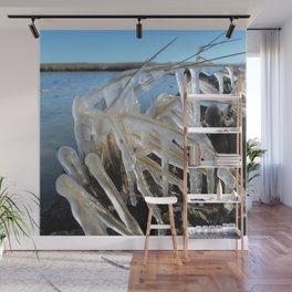 Watercolor Ice 29, Sub-zero Sprayed Wall Mural