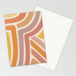Abstract Stripes IV Stationery Cards