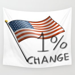 One Percent Change Wall Tapestry