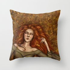 Golden Slumber Throw Pillow
