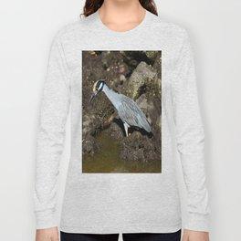Yellow Crowned Night Heron Long Sleeve T-shirt