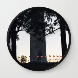 Flag ring around the Washington Monument Wall Clock