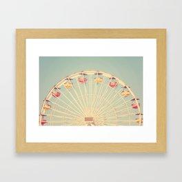 Vintage Santa Monica Pier Framed Art Print